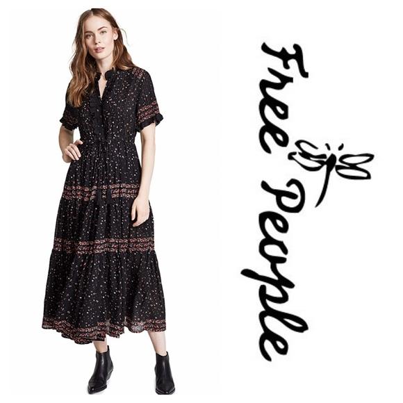 b8d206c8054 Free People Dresses | Rare Feeling Ditsy Floral Print Prairie Midi ...